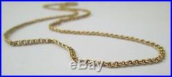 Victorian Antique 9ct Gold Link Necklace Chain Barrel Clasp 44cm