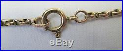 Victorian Antique Chunky 9ct Gold Belcher Necklace Chain 6.2g 45cm