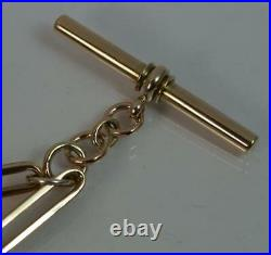 Victorian Two Tone 9ct Gold 12 1/2 Pocket Watch Chain p1878