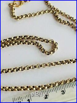 Victorian antique belcher chain necklace tested 9ct gold