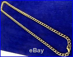 Vintage 18 9ct Yellow Gold CURB ALBERT Chain Necklace Hm 29gr RRP £1450
