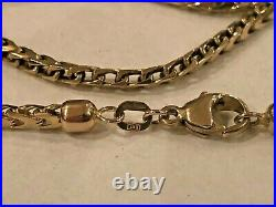 Vintage 9ct Gold 20 inch Foxtail Link Necklace Chain by Unoaerre 14g
