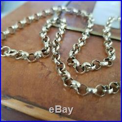 Vintage 9ct Gold 4mm Belcher Link Necklace Chain 18 Circa 1970