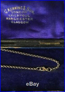 Vintage 9ct Gold Baby Belcher Chain Necklace 9 Carat Gold Chain 18 Inches SALE