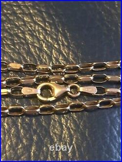 Vintage 9ct Gold Beehive Design Belcher Chain, 21inches, Not Scrap