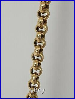 Vintage 9ct Gold Belcher Chain/Necklace 51cm- Nice weight superb condition