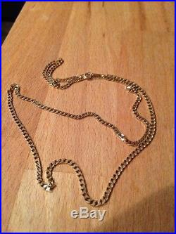 Vintage 9ct Gold Curb Chain Necklace 21 Inches