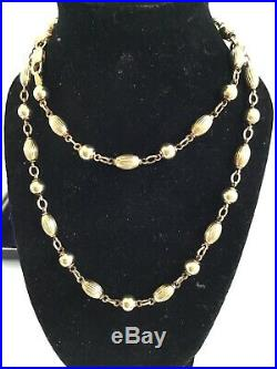 Vintage 9ct Gold Fancy Link Ball Link Chain Necklace