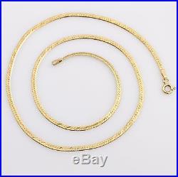 Vintage 9ct Gold Fine Flat Link Chain Necklace 16 41cm Hallmarked