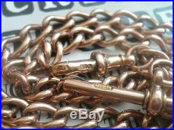 Vintage 9ct Gold Pocket Watch Chain, 36.5g, 14.5 Inch