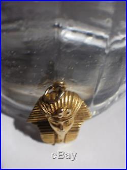 Vintage 9ct Gold Tutankhamun Pendant Charm for Chain Tutankhamen 1970s Egyptian