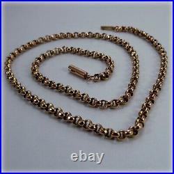 Vintage 9ct Rose Gold 15.5 Belcher link Chain