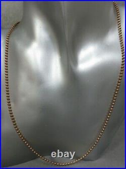 Vintage 9ct Rose Gold Chain. 19 7.23 Grams. Refxaodd