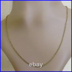 Vintage 9ct Yellow Gold Belcher Chain Necklace Length 17 1/2inches (4.1g)