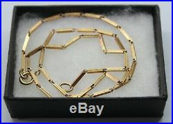 Vintage 9ct Yellow Gold Necklace With Unusual Chain