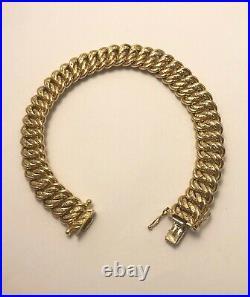 Vintage 9ct Yellow Gold Patterned Bracelet 7 Fully Hallmarked B0070