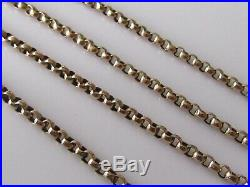 Vintage 9ct yellow gold belcher guard (25.2g) chain with Albert (61inches)