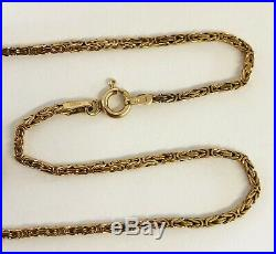 Vintage Ladies 9ct Gold Byzantine Unusual Fancy Link Necklace Chain 6.9 grams
