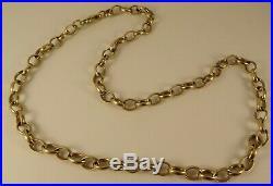 Vintage Mens LadiesBoys 18 Solid 9ct Gold BELCHER Chain Necklace 22gr 6mmHm955n