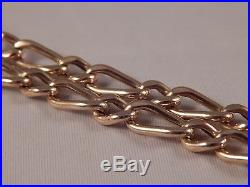 Vintage Pocket watch fob chain 9ct Gold Necklace 29g Hallmarked length 27