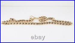 Vintage Solid 9Ct Gold RollerBall Roller Ball Link Chain Necklace 18 1/2 inches