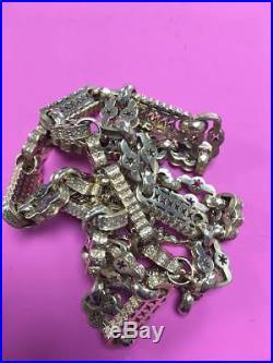 Vintage Stars and Bars Belcher Albert Chain 9ct Gold