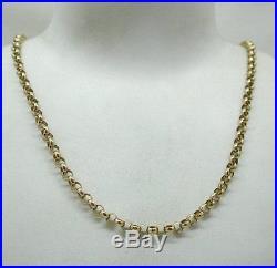 Vintage Very Heavy 9ct Gold Belcher Chain