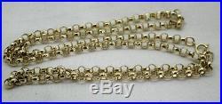 Vintage Very Heavy 9ct Gold Belcher Link Neckchain