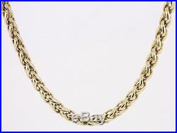 Wheat Chain Necklace 9ct Gold Ladies Stunning Heavy 36.6g AJ76