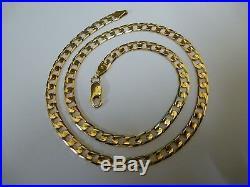 Wonderful 9ct Gold 18 Ridged Curb Chain
