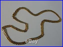 Wonderful 9ct Gold 20 Ridged Curb Chain