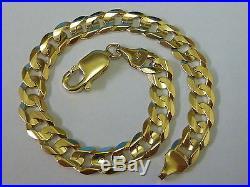 Wonderful 9ct Gold 7.5 Ridged Curb Bracelet