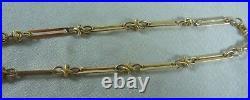 Wonderful Antique Estate 9ct/k Rose Gold Albert Fob Watch Chain Long C 1910