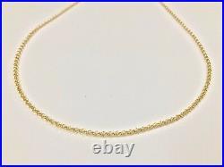 Yellow Gold 9ct 375 Belcher Chain 18 20 22 24 Fully Hallmarked